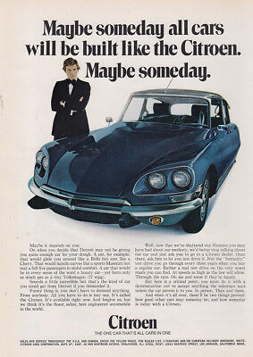 1970 Citroen: Maybe Someday All Cars Will Be Built Vintage Print Ad