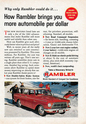 1962 Rambler: Brings You More Automobile Per Dollar Vintage Print Ad