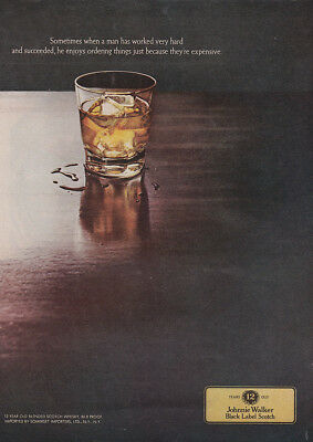 1969 Johnnie Walker: Sometimes When a Man Has Worked Very Hard Vintage Print Ad