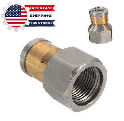 """3/8""""F Turbo Pressure Washer Drain Sewer Cleaning Pipe Jetter Rotary Nozzle US"""