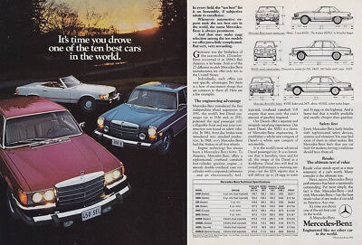 1975 Mercedes Benz: Its Time You Drove One of the Ten Best Vintage Print Ad