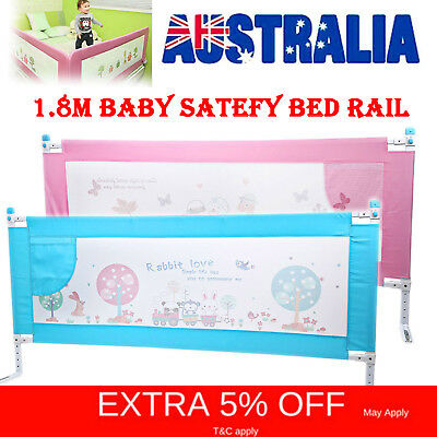 Baby Bed rail Swing Down Safety Toddler Child Bedrail Fold Cot Guard Protection