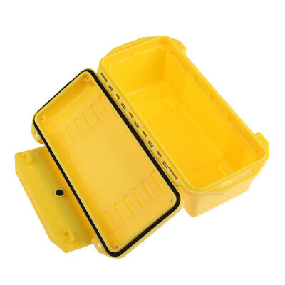 Shockproof Waterproof Container Storage Box Survival Case Outdoors Yellow