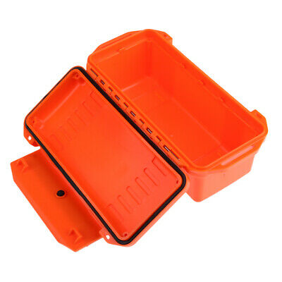 Camping Waterproof Shockproof Storage Dry Box Airtight Container Case Orange