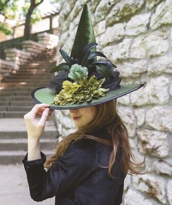Victorian Trading Co Poison Ivy Floral Witch Hat