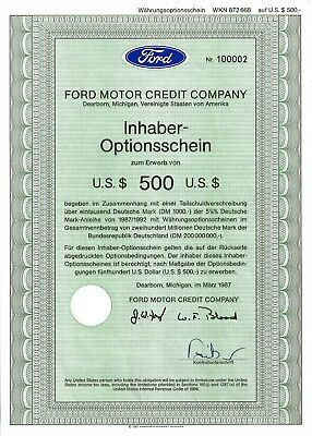 FORD Motor Credit Company, Dearborn, Michigan, 1987 (IH-OS 500 $)
