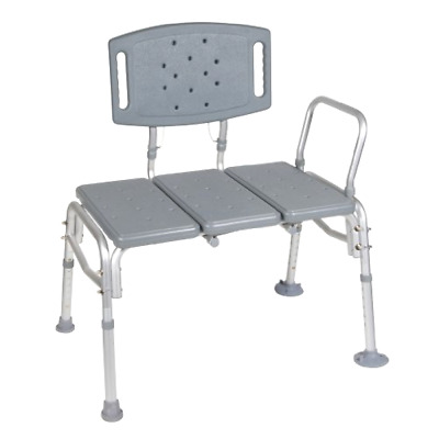 Brand New Drive Medical Heavy Duty Bariatric Plastic Seat Transfer Bench, Gray
