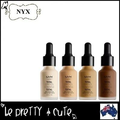 Nyx Total Control Drop Foundation Choose Shade Matte Full