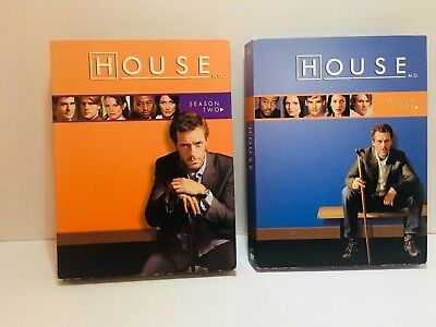 House MD TV Series DVD Lot Seasons 1 and 2 Hugh Laurie - Box Sets