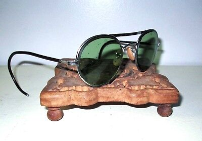 Antique Bausch & Lomb Green Sunglasses Safety Glasses Vtg Ray Ban Steampunk B&L