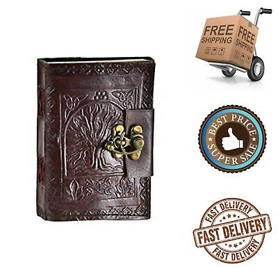 Leather Embossed Journal Celtic Tree of Life Book of Shadows Blank Spell Wicca