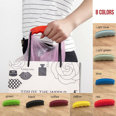 Candy Color Silicone Shopping Basket Plastic Bag Grip Key Holder Handle Carrier