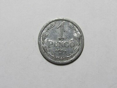 Old Hungary Coin - 1941 1 Pengo - Circulated, scratches, spots