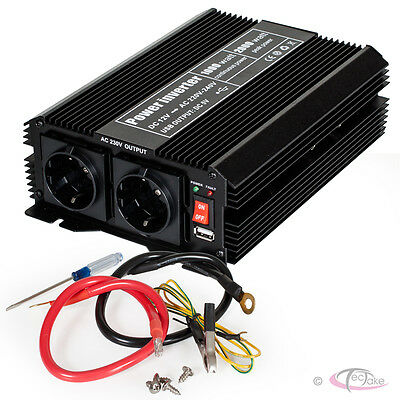 Convertisseur de tension 12 V - 230 V Onduleur 1000 2000 W Watt