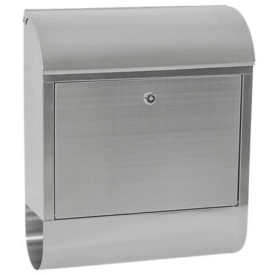 Stainless Steel Mailbox Letterbox Postbox with Newspaper Slot