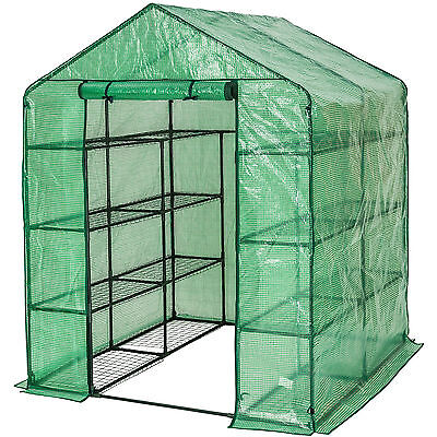 Greenhouse with shelf PVC cover growhouse outdoor tent house plants 143x143x195