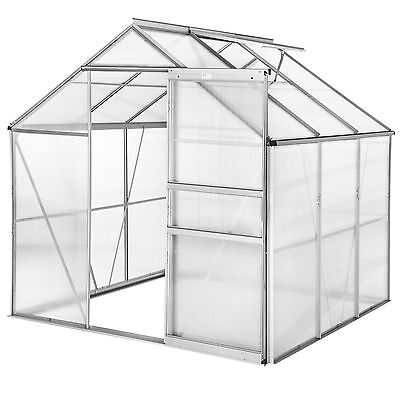 Greenhouse polycarbonate aluminium grow plants growhouse garden structure 5.85m³