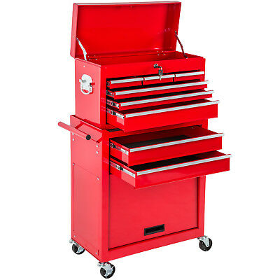 Tool cabinet cart workshop wheel trolley mechanic Removable mobile case red