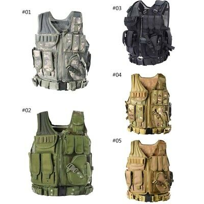 Einstellbar Tactical Military Weste Armee Paintball Airsoft Kampf Angriff Weste