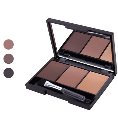 Lady Eyebrow Powder Palette Eye Makeup Cosmetic Mirror Box With Brush Alluring