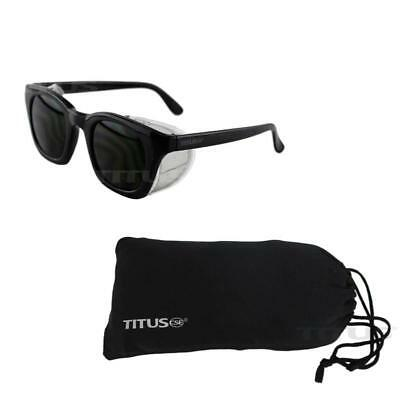 Titus Retro Style Ir Welding Safety Glasses (W/ Pouch, Ir 5)