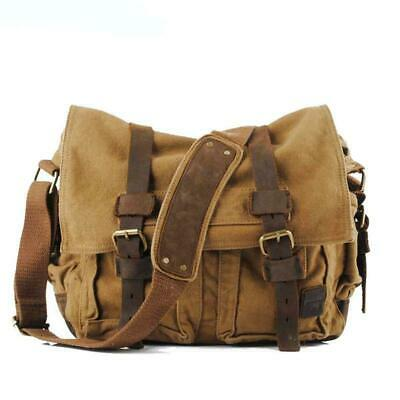 Rustic Mens Canvas Messenger Bag