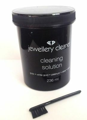 Jewellery Cleaner Solution for Gold, White Gold, Silver, Platinum & Gems  236ml