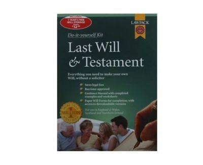 LawPack Last Will & Testament Kit - Step By Step Guidance Manual - New & Sealed