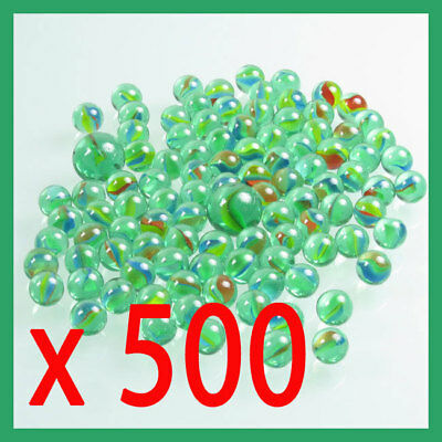 x 500 , BULK glass marbles,round , glass marbles, toy  , classic play, cats eye