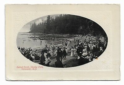 Second Beach, Stanley Park VANCOUVER BC Canada Early 20th Century Postcard 592H