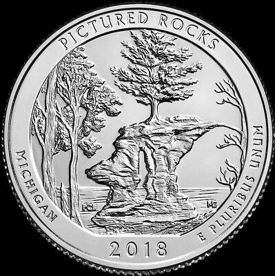 2018 S Pictured Rocks ATB Michigan Quarter PROOF Deep Cameo Clad US Mint