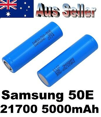 2x Samsung 50E INR 21700 5000mAh Lithium Li-Ion rechargeable batteries with CASE