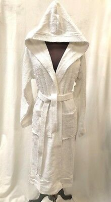 Unisex White Hooded Bath Robe 2XL