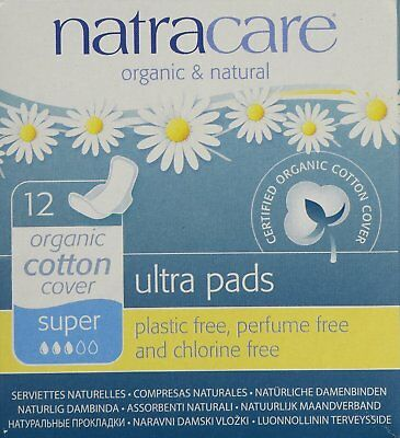 PACK OF 3 Natracare Organic Cotton Ultra Pad With Wings Super  NEW & FAST