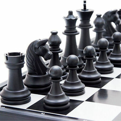 Traditional chessmen Magnetic Tournament Chess Set Folding Board Box Kids Toy