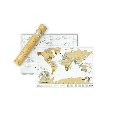 Scratch Map Travel Size Edition Personalised World Map By Luckies of London