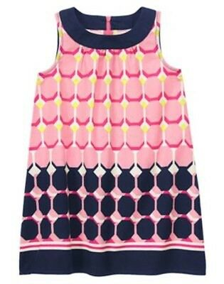 NWT Gymboree BRIGHT IDEAS Geo Print Dress SZ 5 6 7 8  Girls BTS