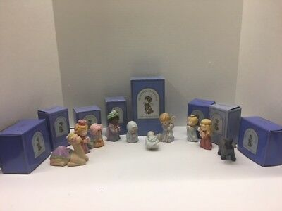 Holiday Heavenly Blessings Nativity Collection Avon Collectible Lot of 8 Vintage