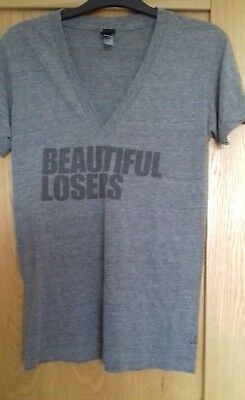 Leonard Cohen Unified Heart Beautiful Losers Grey T-shirt Size S very Rare