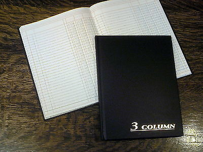 "Adams Account Book, 3 Columns, 7 x 9.25"", Black, 80 Pages, # ARB8003M, Ledger"