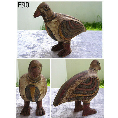 Ancient Colored Teracotta Painted Bird Indus Valley 2000 BC #F90