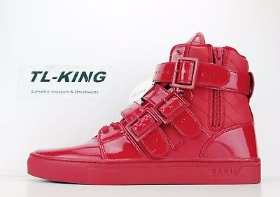 Radii Straight Jacket Candy Apple Red Patent Leather Fashion Sneaker $120 CN