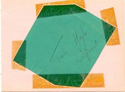 Julie Hoyle signed autograph album page British swimmer 1956 Summer Olympics