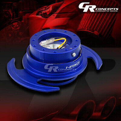 Nrg Universal Steering Wheel Lock Quick Release Adaptor Gen 3.0 Blue Body+Ring