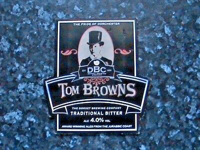 Dorset Tom Browns Traditional Bitter Beer Pump Clip Sign