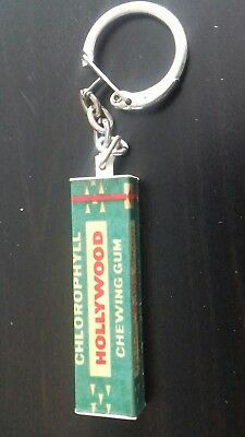 "Ancien Porte Cle Chewing-Gum "" Hollywood "" Paquet Miniature 3D / Keychain"