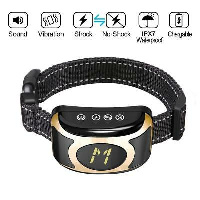 Bark Collar Version Humanely Stops Barking with Sound and Vibration. NO Shock,
