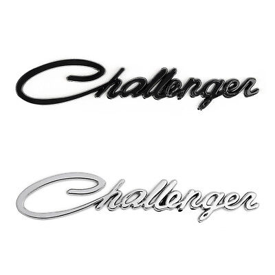 For Dodge Challenger 3D Trunk/Fender Logo Emblem Script Badge Sticker New