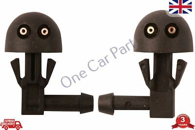 2 x Peugeot 206 Windscreen Washer JETS Nozzles Pare-Brise Gicleur RIGHT LEFT