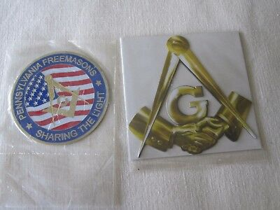 New Pennsylvania Freemasons Sharing The Light Badge & Refrigerator Gold Magnet